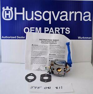 OEM Husqvarna 545081811 / 590460102 Blower Carburetor Ass Kit 125B 125BVX 125 BX