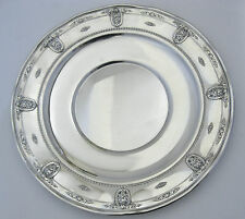 "Wallace Rose Point Sterling Silver 13.5"" Ruffled Platter Sandwich Tray 4600-9"