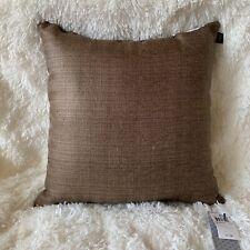 "Hallmart Collectibles $60 Brown 18"" X18"" Decorative Pillow"