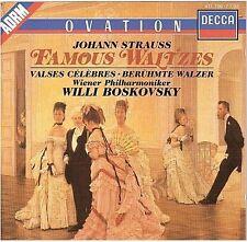 STRAUSS famous waltzes CD ALBUM willi boskovsky WEST GERMANY 417 706-2