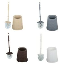 Dunya Rattan Style Plastic Toilet Brush and Stand. Household cleaning supplies.