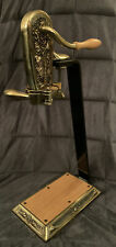 Franmara Le Grape Brass-Plated Counter Mount Wine Bottle Opener with Table Stand