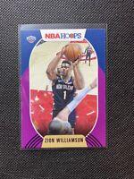 2020-21 NBA Hoops ZION WILLIAMSON #163 PURPLE & BLUE Pelicans SP! HOT! INVEST!