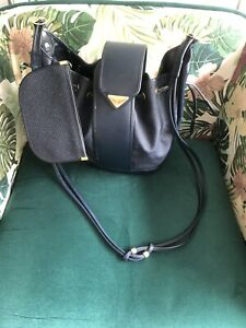 Vintage YSL Navy Bucket Shoulder/cross Body Bag (read description)