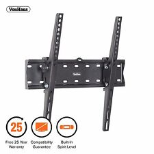 "VonHaus 26-55"" Tilt TV Wall Mount Bracket with Built-In Spirit Level"