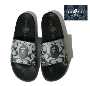* A BATHING APE Footwear Men's BAPE x COACH SLIDE SANDALS New