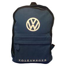Official VW Canvas Rucksack Backpack Bag - Blue