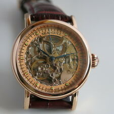 Sea-Gull M182SGK golden skeleton automatic mechanical watch Blue hands