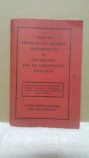 1965 PSE&G CODE REQUIREMENTS FOR GAS HEATING & AIR CONDITIONING APPLIANCES