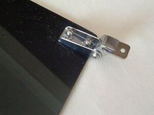 Classic Mini Sun Visors - black solid colour perspex *new*