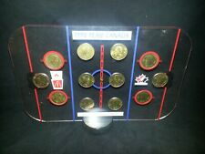 1998 McDonalds Team Canada Medal Coin set with display board and Puck base