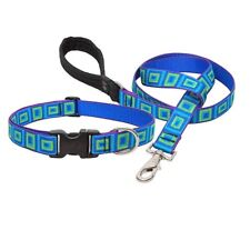 """NEW Sea Glass Blue Green Dog Collar or Leash in 1"""", 3/4"""" or 1/2"""" by Lupine Pet"""