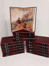 Set Wonderland of Knowledge Books 14 Volumes Tooled Covers 1949 Encyclopedia