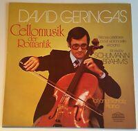 DAVID GERINGAS Cello Schumann Brahms Tatjana Schatz Parnass Stereo 30 041 8