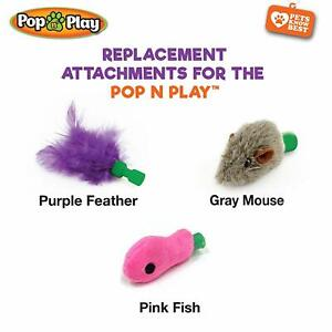 Pop N' Play - Replacement Attachments Cat Toys For Pop N' Play, NEW!