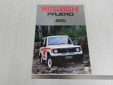 DEPLIANT BROCHURE ORIGINALE FUORISTRADA 4x4 MITSUBISHI PAJERO 4WD