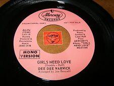 DEE DEE WARWICK - GIRLS NEED LOVE   / LISTEN - SOUL