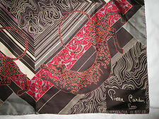 Superbe Foulard  PIERRE CARDIN  100% soie  TBEG  vintage Scarf