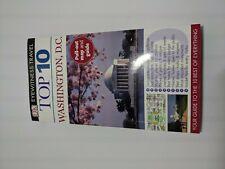 Top 10 Washington DC DK Eyewitness Travel Guide W/ Fold Out Map