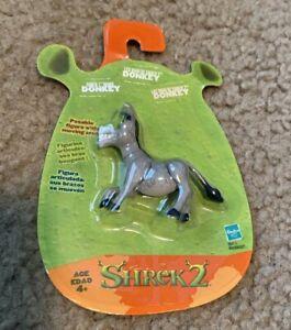 "Hasbro Dreamworks Shrek 2 Donkey Minis 2"" Action Figure 2004 NIP"
