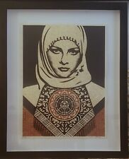 Shepard Fairey Obey Arab Woman Red Signed  Numbered Rare Mint Screenprint FRAMED