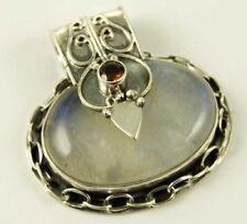 Collares y colgantes de joyería con gemas colgante de plata de ley de piedra de luna