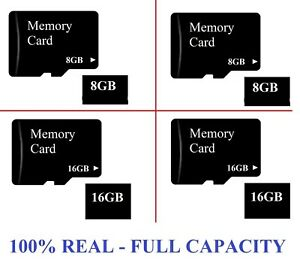 Full Capacity Micro SD 8GB OR 16 GB SDHC Memory Card Mobile Phone Tablet Camera