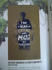 UNCHARTED 4 Nathan Drake Loot Crate EXCLUSIVE Mini Poster Sony PLAYSTATION
