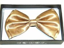 New Tuxedo PreTied Champaign Gold Bow Tie Satin Adjustable Brand New