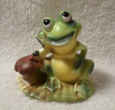 Vintage Josef Originals Frog Toad Toad Stool Ladybug Figurine Figure