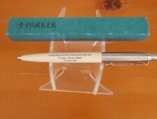 "5"" Parker Ball Point Pen Push Top Advertising Window Arrow Clip Chicago Illinois"