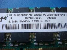 MT16LSDT6464AG-133D2 512MB SDRAM PC133 CL3 DESKTOP RAM LOW DENSITY NON-ECC