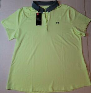 Under Armour UA Womens HeatGear Zinger Golf Polo XXL 2XL NWT