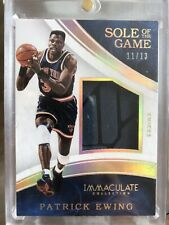 2015-16  Immaculate Sole of The Game Patrick Ewing N.Y Knicks   patch SHOE 11/13