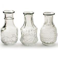 12  kleine Vasen aus Glas Vintage Glasvasen Tischvasen Vase Tischdeko Blumenvase