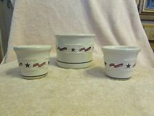 SET OF 3 ALL AMERICAN Votive Candles Candle Holder Longaberger USA