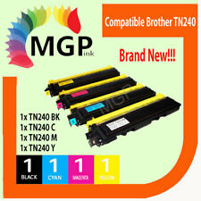 4x Compatible TN240 B/C/M/Y Toner for Brother HL3045CN HL3045 HL3075 HL3075CW