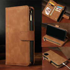 Luxury Leather Zipper Flip Wallet Case Cover for iPhone 12 11 XS Max Xr 8 7 Plus