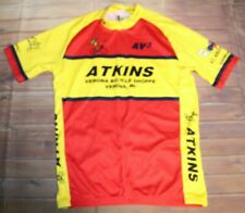 Louis Garneau Men Medium Womens XL Unisex Cycling Jersey Yellow Red Rear Pockets