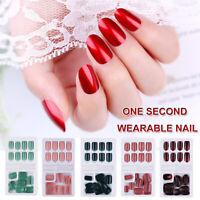 Press on Nails With Jelly Gel Glue False Nails Detachable Tips Fake Nail Tips