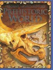 PREHISTORIC WORLD HISTORY USBORNE Jane Bingham Hardcover Dinosaurs Fossils