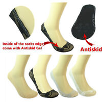 3-12 Pairs Lace Antiskid Invisible Liner No Show Peds Low Cut Socks for Women