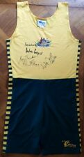 RARE 1992 BARCELONA GOLD MEDAL OLYMPIC GAMES MEN'S COXLESS FOUR SIGNED UNISUIT