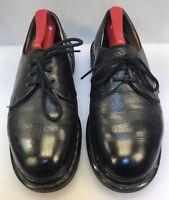 Dr. Martens Women 7 US 6 UK Oxfords Shoes Black Leather 4 Eye England Made