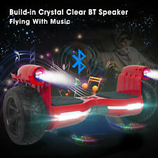 """8.5"""" Electric Self Balancing Scooter Hoverboard Off Road Hummer Bluetooth+LED"""