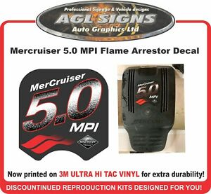 Mercruiser 5.0 MPI  Flame Arrestor Replacement Decal ,  5.7 available