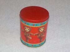 """SALE CHRISTMAS MUSIC BOX TIN  TEDDY BEARS DANCING 5""""  HI CANDY SMALL GIFT DECOR"""