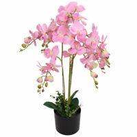 vidaXL Plante Artificielle avec Pot Orchidée Décoration d'Intérieur 75 cm Rose