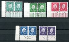 GERMANY FEDERAL REPUBLIC 1959 HEUSS SCOTT 793-797 SUPERB USED PAIRS MICHEL 650€+