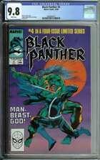 BLACK PANTHER #4 CGC 9.8 WHITE PAGES // SAM DE LA ROSA COVER ART 1988
